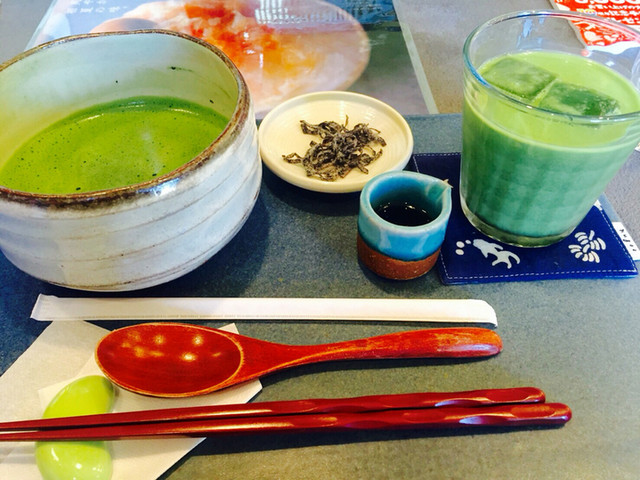 "Extra rich matcha zen special from ""Chakama"""
