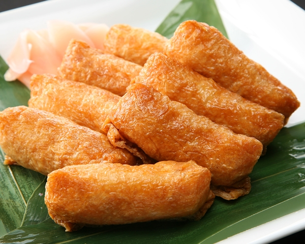 6 Types of Sushi Fried tofu pocket sushi (inari zushi)