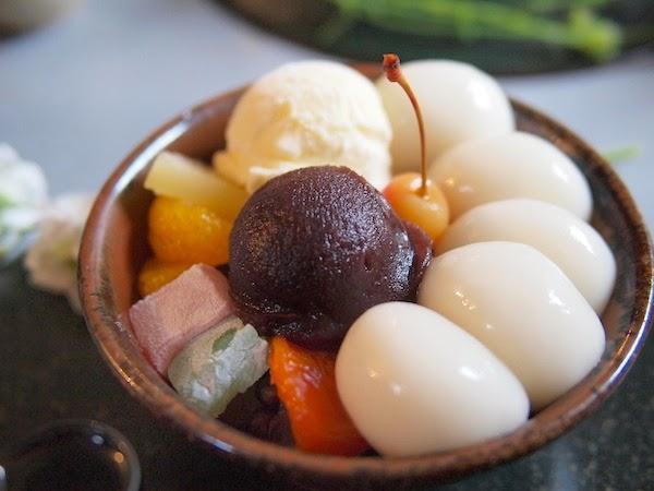 "Ujishiratama Cream Anmitsu from ""Sabou-kirara"""